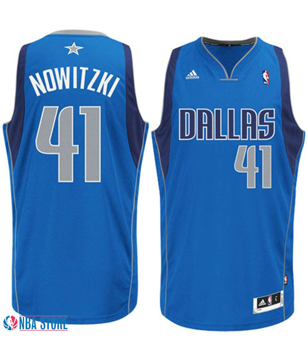 352216334 Dirk  Nowitzki 41 Dallas  Mavs Road Blue Basketball Jersey. Stitched name  and numbers
