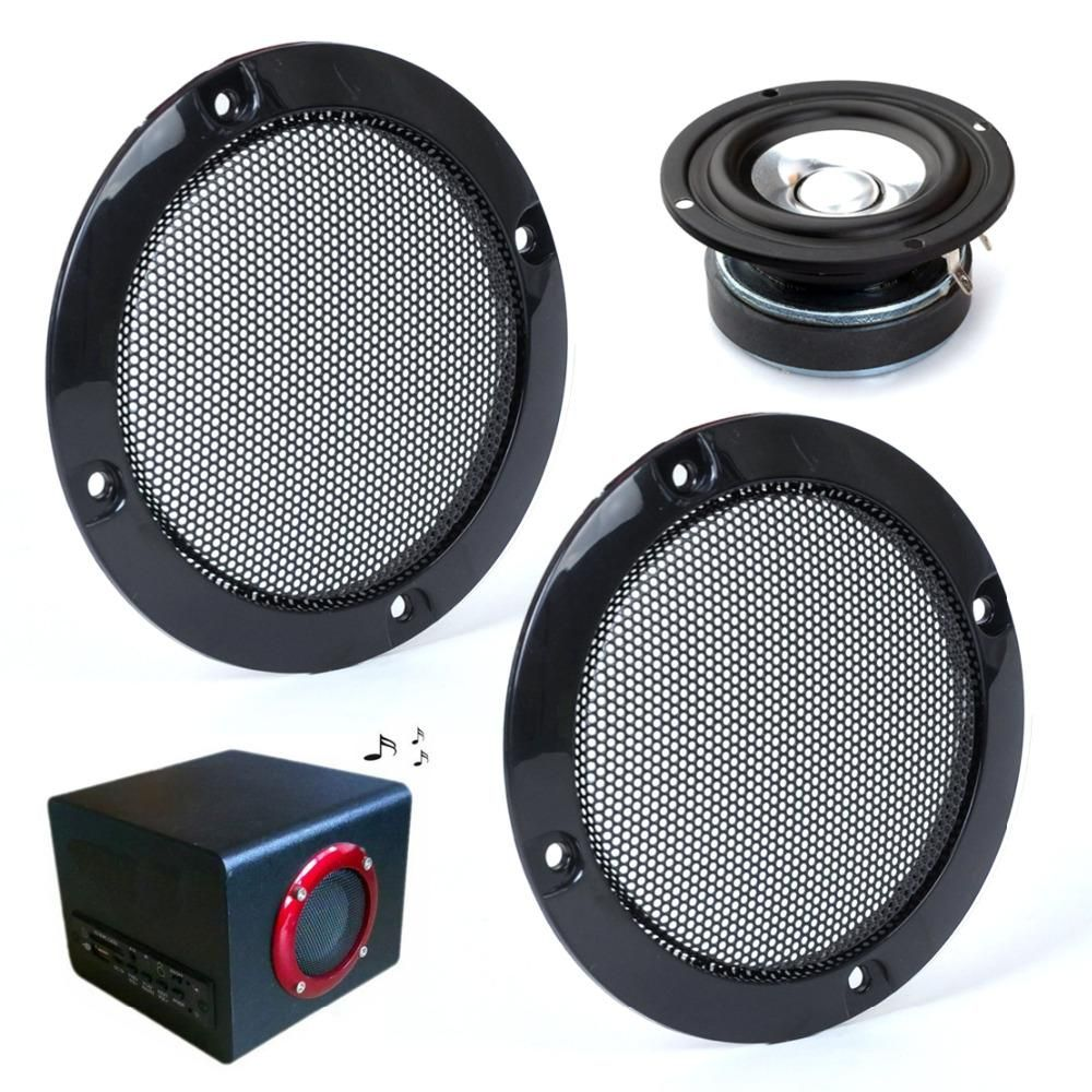 "2pcs 3"" Inch Black Circle Speaker Decorative Circle w/Black Protective Grille Mesh >>> For more information, visit image link."