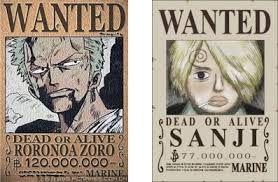 Resultado de imagen de one piece sanji wanted