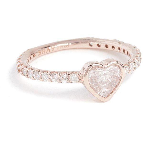 Shay 18k black gold diamond heart ring Discount Release Dates Cheap Sale Best Sale awGW9jWa