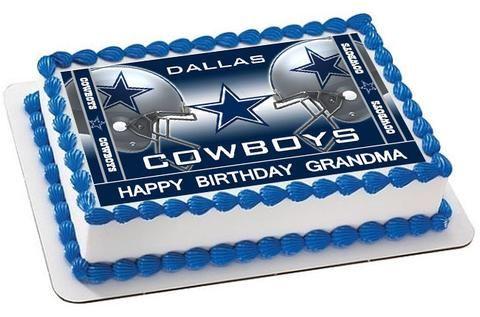 Tremendous Dallas Cowboys 2 Edible Birthday Cake Topper Or Cupcake Topper Funny Birthday Cards Online Hetedamsfinfo