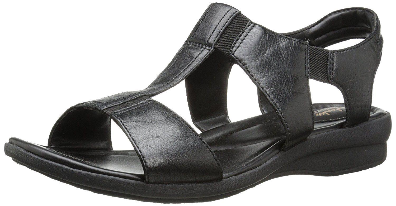 Clarks Women S Reid Delmar Dress Sandal Remarkable Product Available Now Women S Flats Sandals Sandals Dress Sandals Black Leather Sandals [ 781 x 1500 Pixel ]