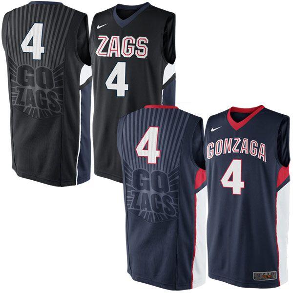 Gonzaga University Go Zags Replica Basketball Jersey Gonzaga