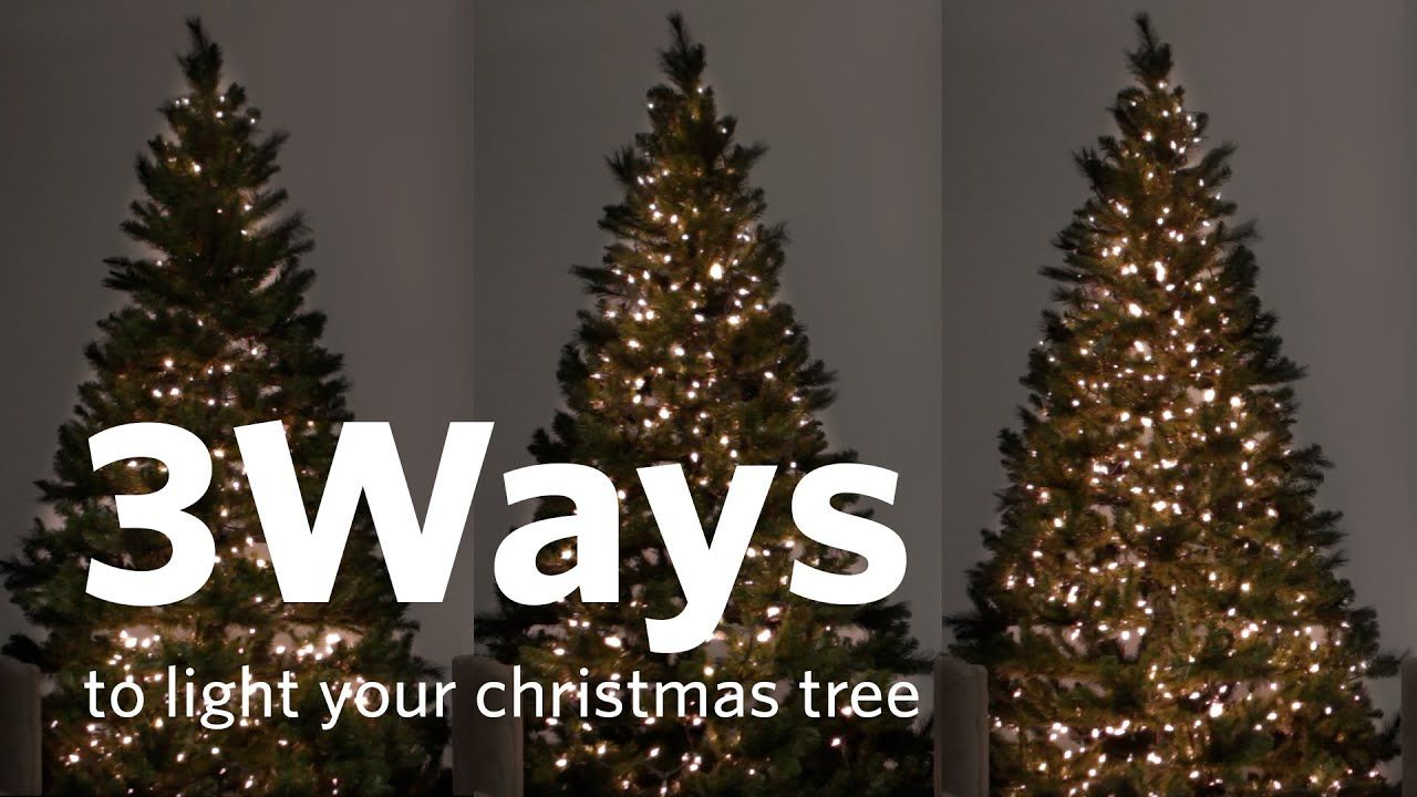 How To Hang Christmas Tree Lights 3 Different Ways Youtube Hanging Christmas Lights Hanging Christmas Tree Christmas Tree