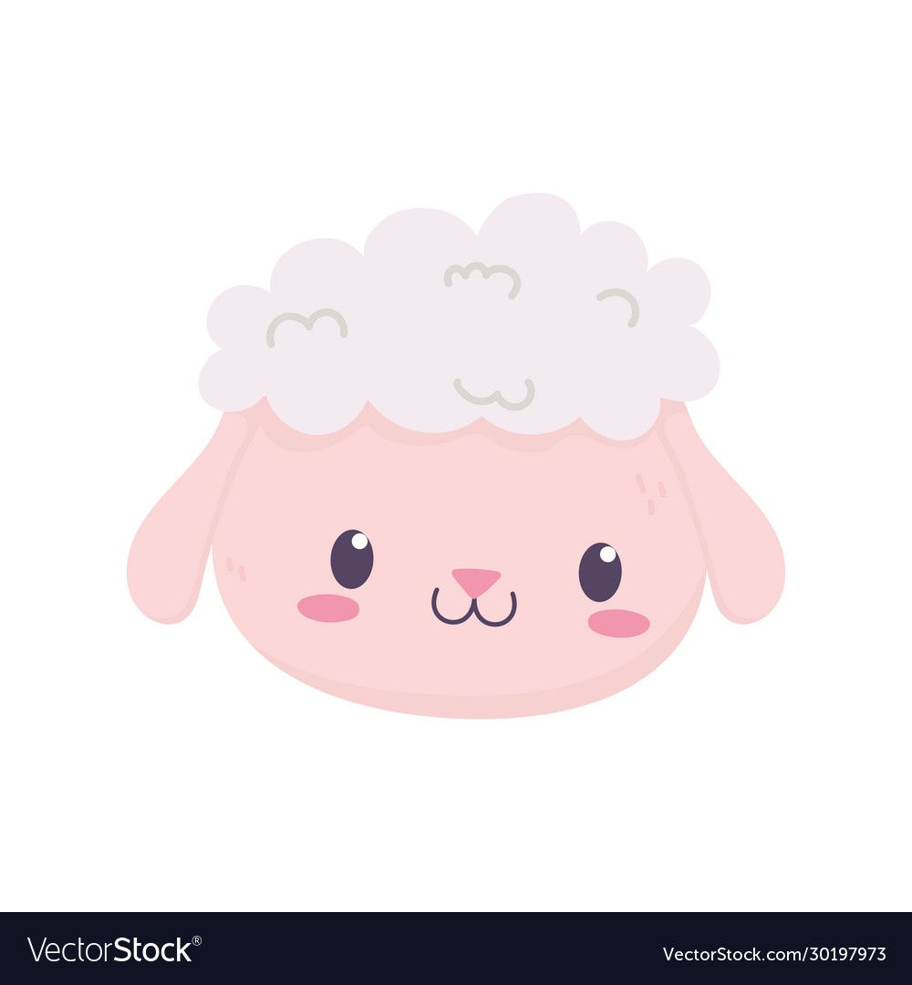 Cute Sheep Face Animal Cartoon Isolated Icon Vector Illustration Download A Free Preview Or High Quality Adobe Sheep Face Cute Sheep Cute Animal Illustration