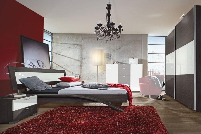 Dormitorios en rojo blanco y negro dormitorios colores y for Dormitorios pintados en gris