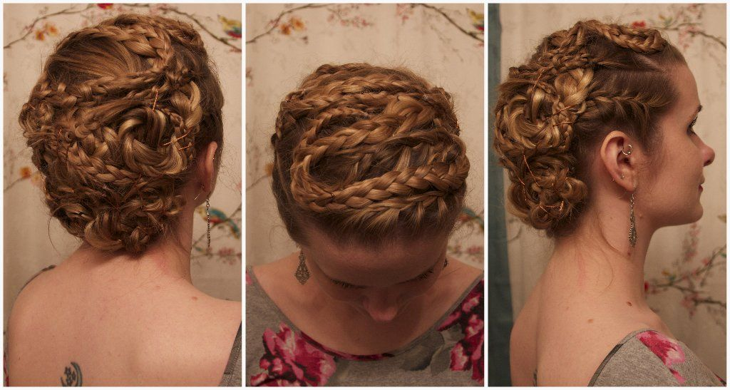 Vikings Lathgertha Inspired Braided Updo Just In Case I Need To Look Like An Awesome Viking Hair Styles Lagertha Hair Viking Hair