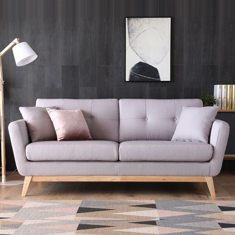Hoga Gris Clair Canape Scandinave 3 Places Gris Clair 2 Coussins 222229 Furniture Home Decor Sofa
