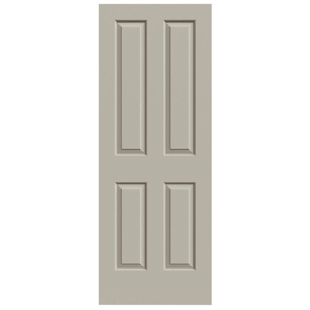 Jeld Wen 24 In X 80 In Molded Desert Sand Smooth 4 Panel Hollow