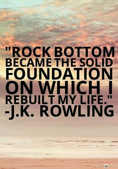 Its okay tk hit rock bottom the only way is up quotes i like inspirational altavistaventures Image collections