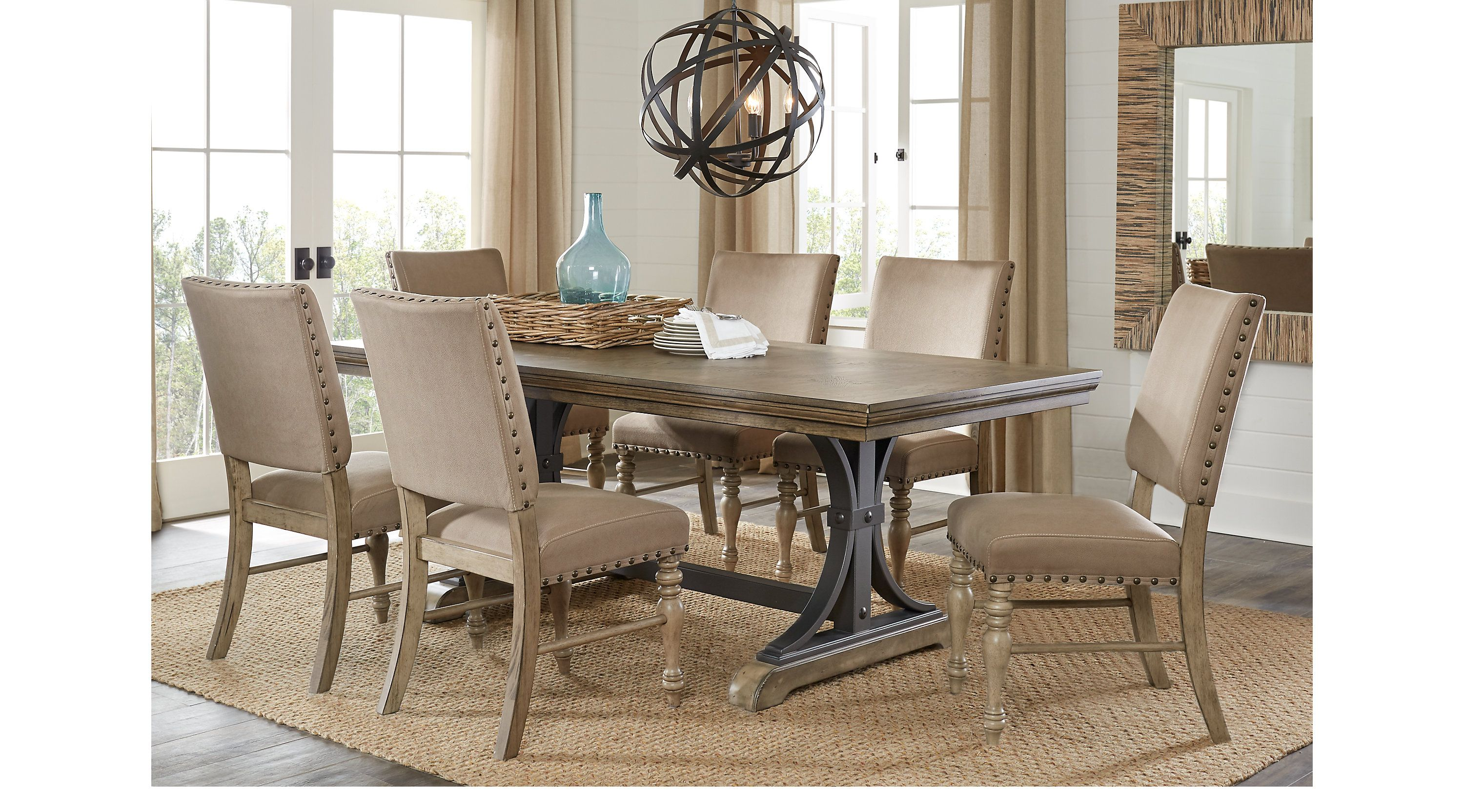 Sierra Vista Driftwood 5 Pc Rectangle Dining Set Dining Room Sets Light Wood Dining Room Sets Rooms To Go Furniture Rooms To Go
