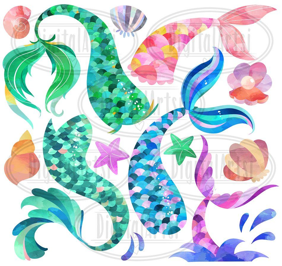 10++ Mermaid tail images clipart ideas in 2021