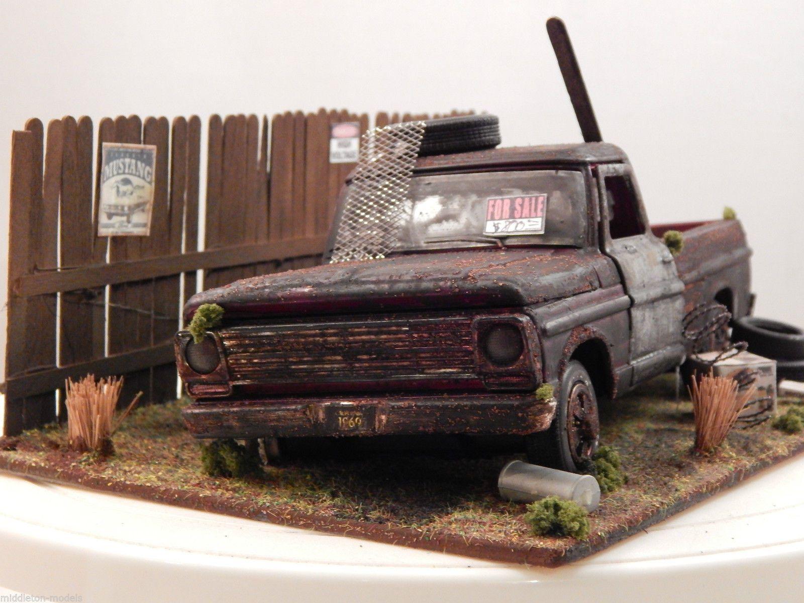 1 24 Ford F 100 Pickup 1969 Barn Find Diorama Code 3 \