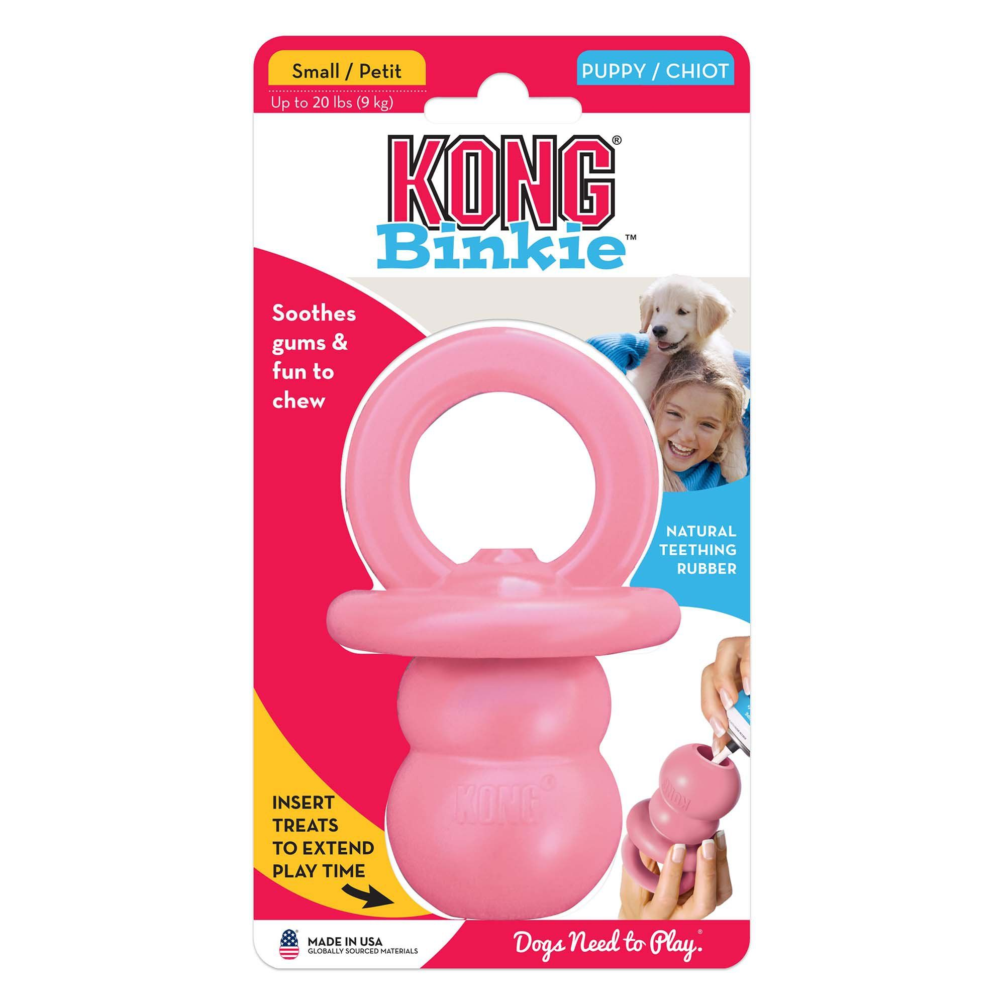 Kong Puppy Binkie Dog Toy Small Blue Toy Puppies Smart Dog