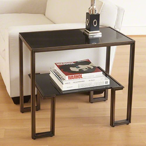 One Up Table Bronze Finish Bliss Home And Design Furniture Small Accent Tables