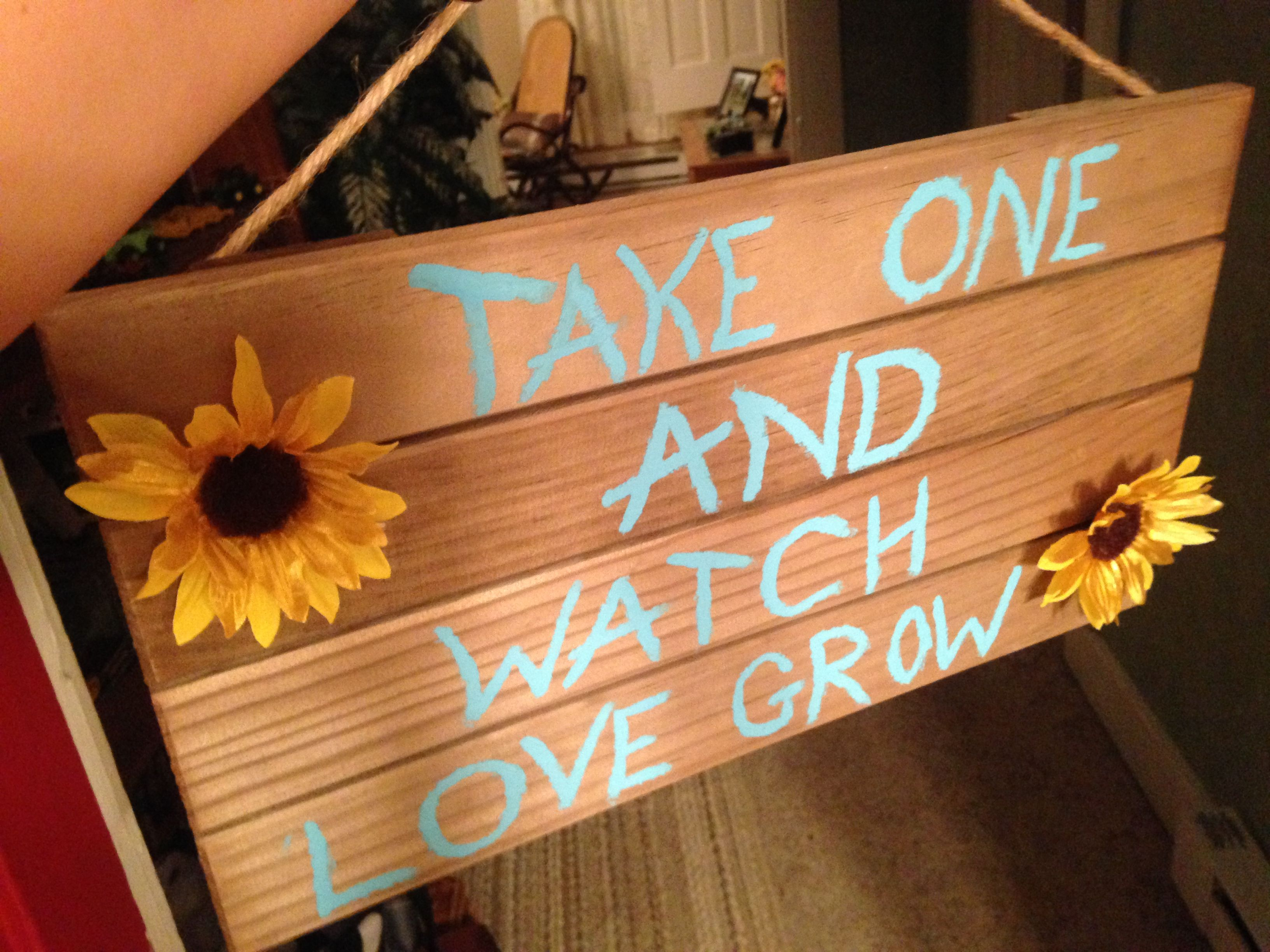 take one and watch love grow\