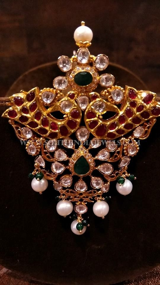 Gold antique uncut diamond pendant aloadofball Image collections