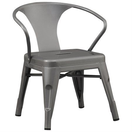 BTEXPERT? Solid Rugged Steel Stacking Industrial Silver Kids Play Tabouret Stackable Metal Chair with Arms (set of 2) - Rakuten.com