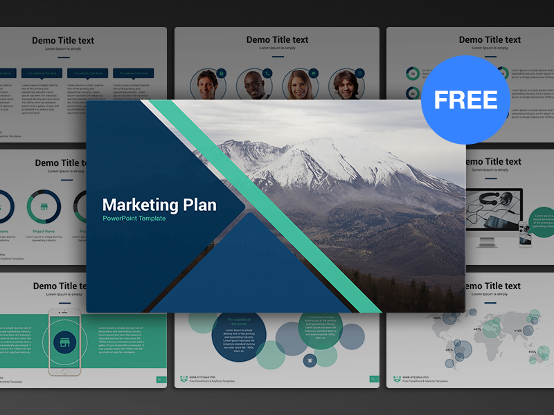 Free Powerpoint Template Marketing Plan Pinterest Template