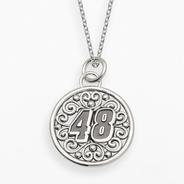 "Insignia collection nascar jimmie johnson sterling silver ""48"" pendant on shopstyle.com"