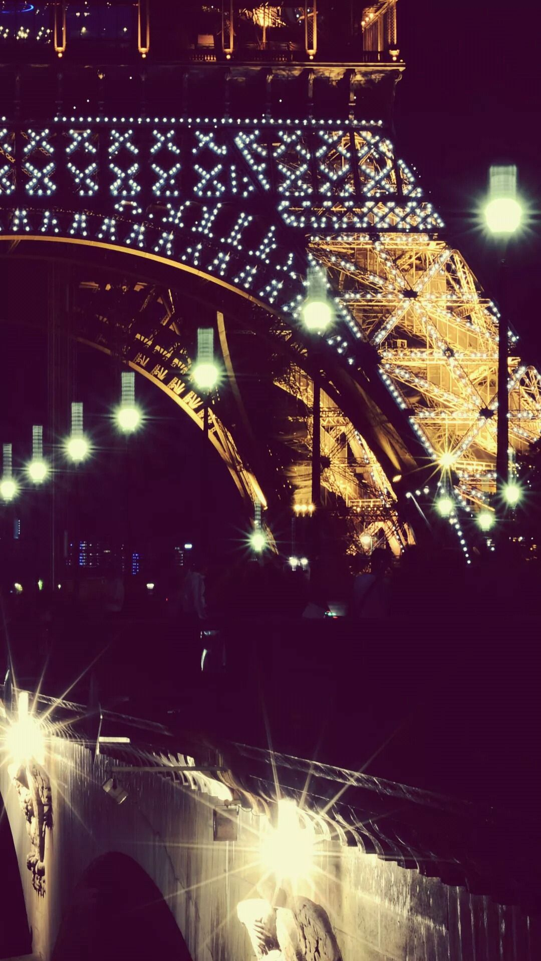 Eiffel Tower at Night Tap to see more of the most romantic Paris