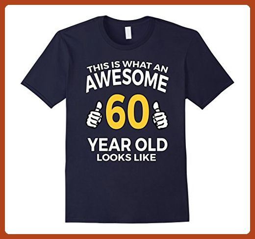 Mens 60th Birthday Gift Aged 60 Years T Shirt For Men Or Women XL Navy