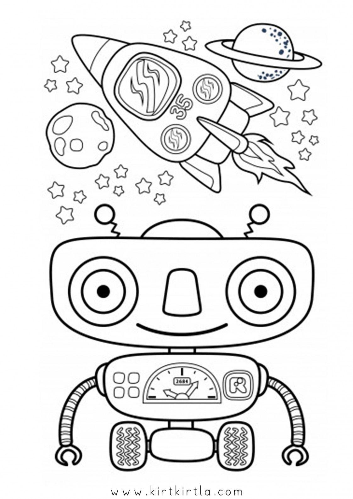 Robot Boyama Sayfalari Kirtkirtla Robot Dinozorlar Egitim