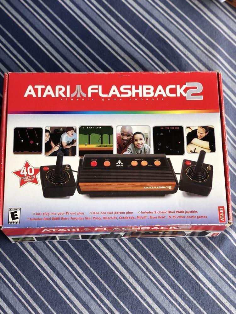 Atari flashback 2 nib box has minimal edge wear ebay