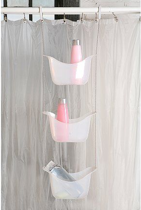 Genius   Hanging Shower Caddy That Will Hang From The Curtain Rod As  Opposed To Shower