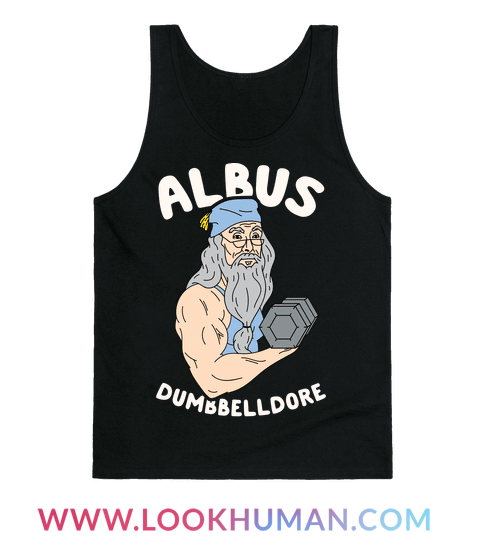 Get to the gym and show off your nerdy side with this nerd fitness inspired design! Channel your Albus Dumbbelldore and lift those weights! Time to get Hogwarts swole!