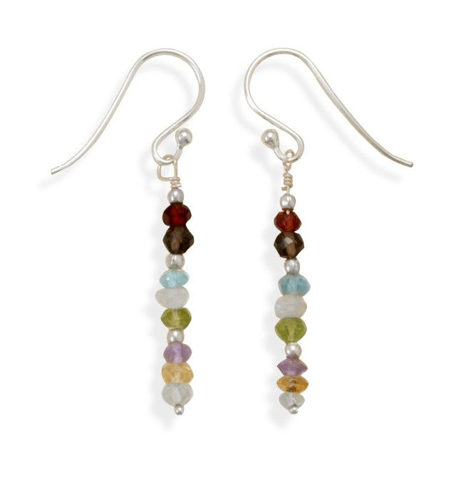 Faceted Gemstone Drop Earrings from Blue Tulip Boutique