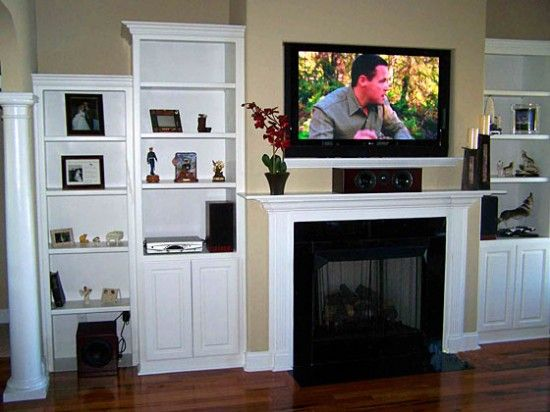 Mounted Tv Ideas For Small Living Room Living Room With Tv Above Fireplace Decorating Ideas De Tv Above Fireplace Above Fireplace Ideas Fireplace Built Ins
