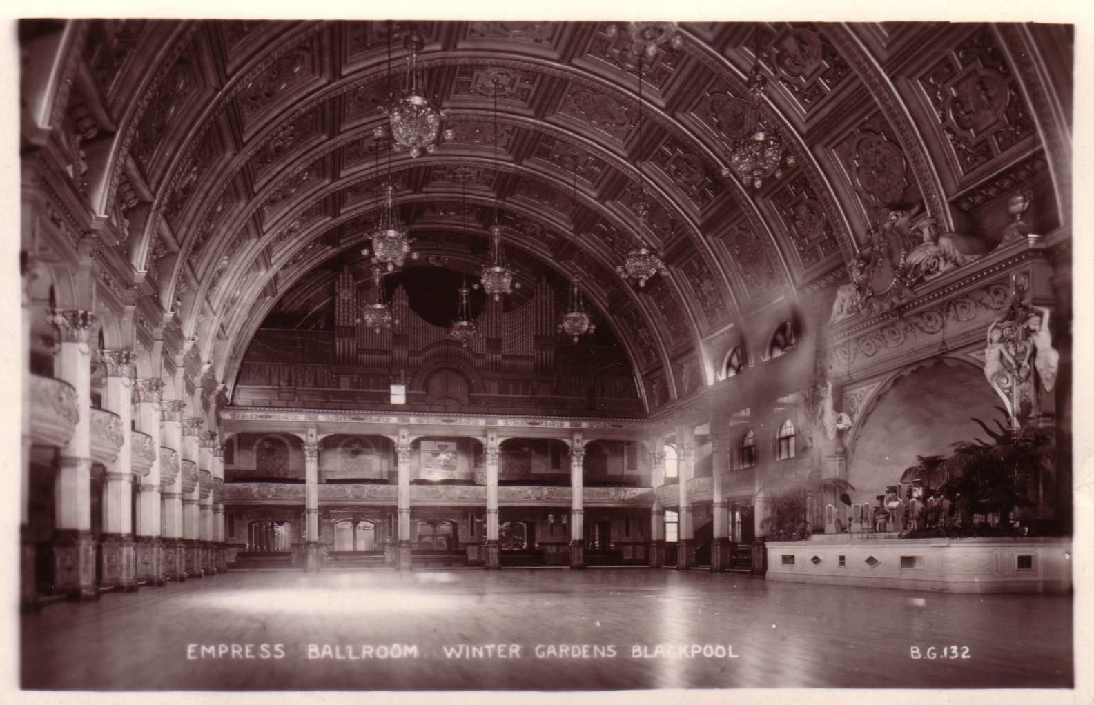 the empress ballroom in blackpool u0027s winter gardens showing the
