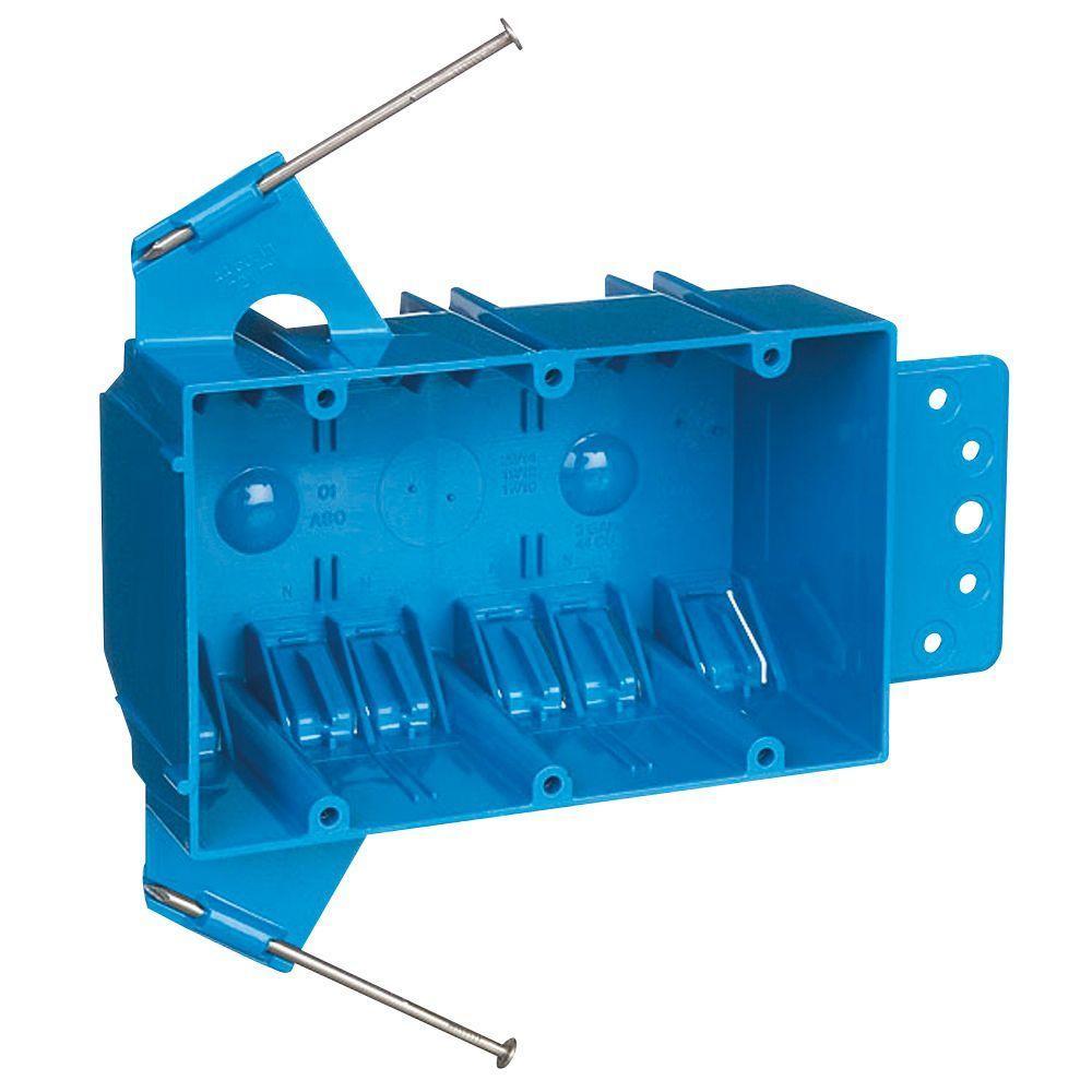 Carlon 3 Gang 44 Cu In New Work Pvc Electrical Outlet Box B344ab Work Boxes Wall Boxes Electrical Outlets