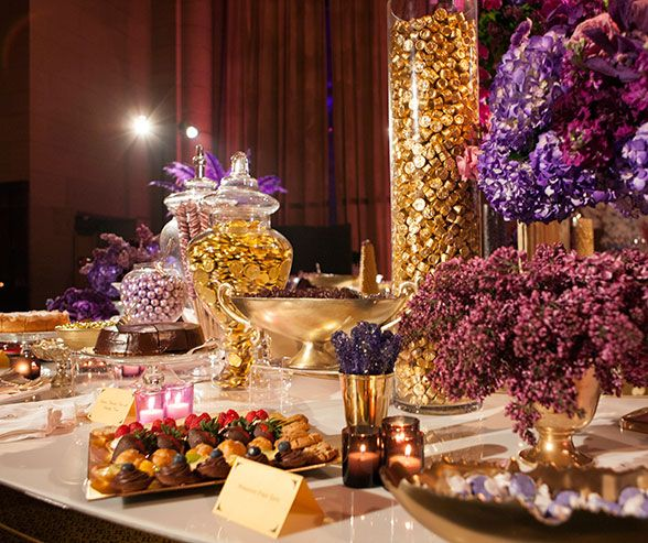 new york wedding colin cowie white purple orchid cipriani wedding