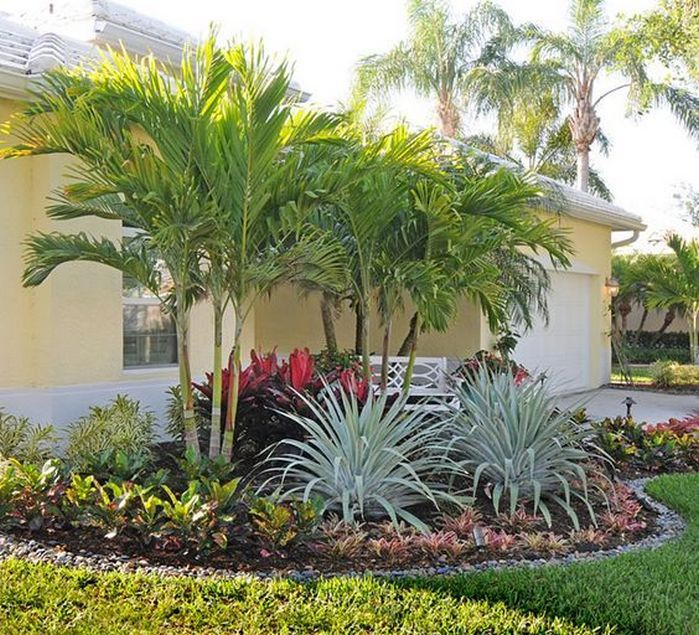 17 Small Front Yard Landscaping Ideas To Define Your Curb: 50 Florida Landscaping Ideas Front Yards Curb Appeal Palm