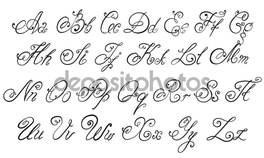 abecedarios cursivos antigos - Pesquisa Google   caligrafia   Pinterest