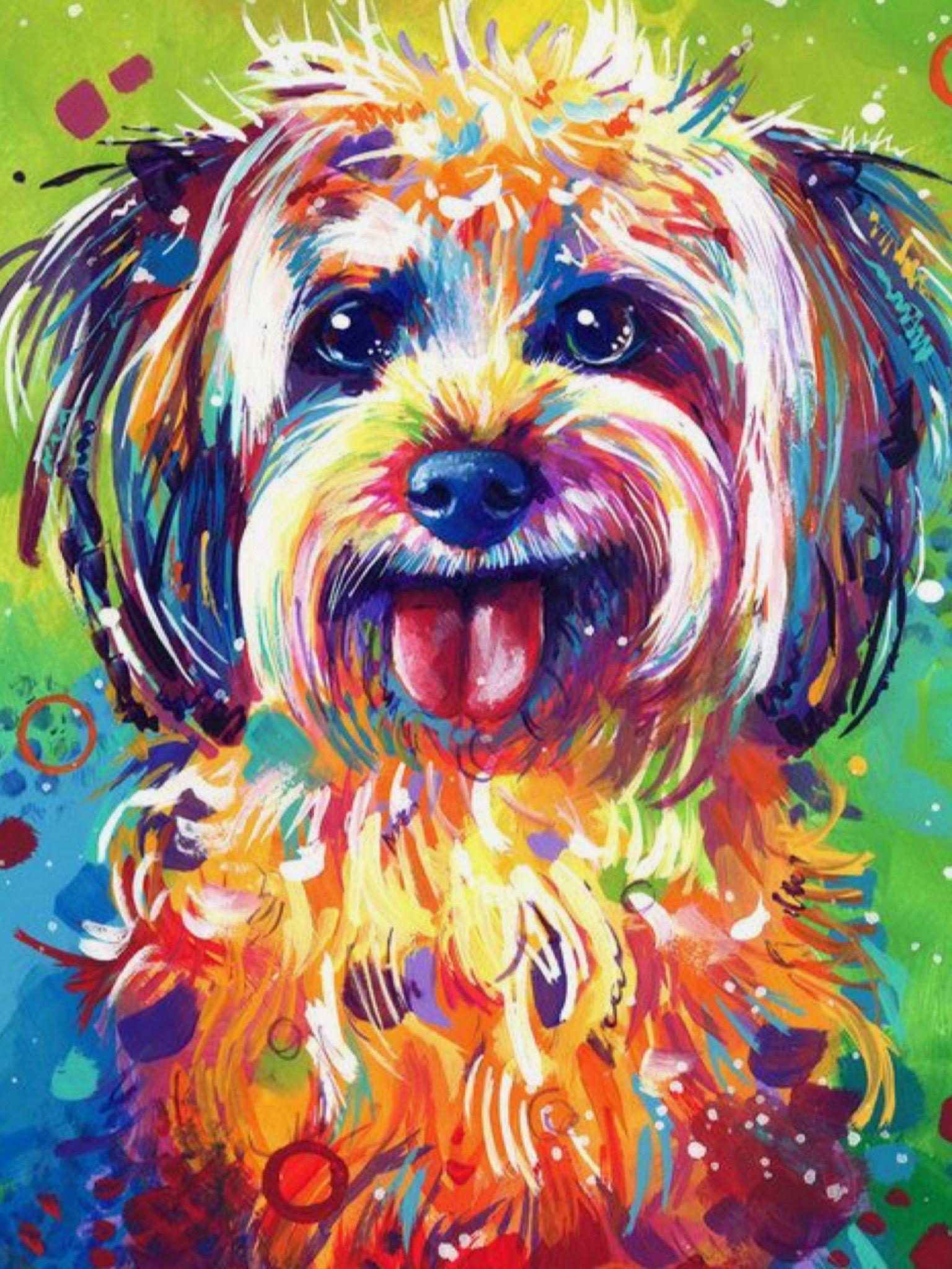 Pin By Simona Alana On Art Pins I Like Dog Pop Art Dog Paintings Pop Art