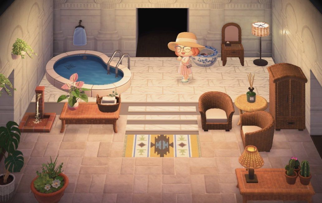 Living room and Kitchen in one room for Animal Cro ... on Animal Crossing New Horizons Living Room Designs  id=95141