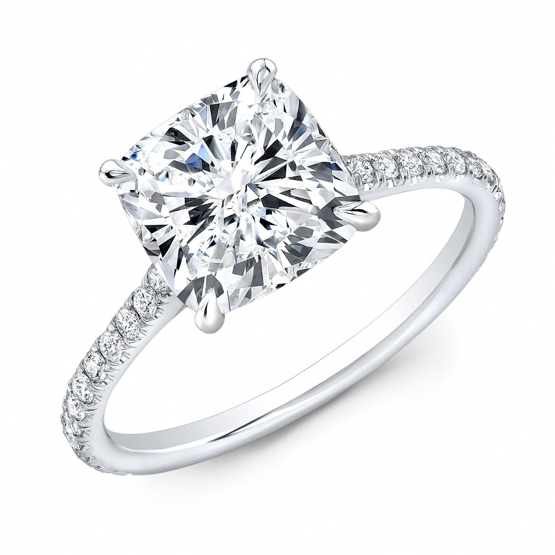615e545d5 Bonjour Cushion Solitaire – King of Jewelry #solitairecutring Cushion  Solitaire, Natural Cushions, Gia