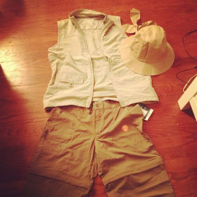 My first safari outfit!