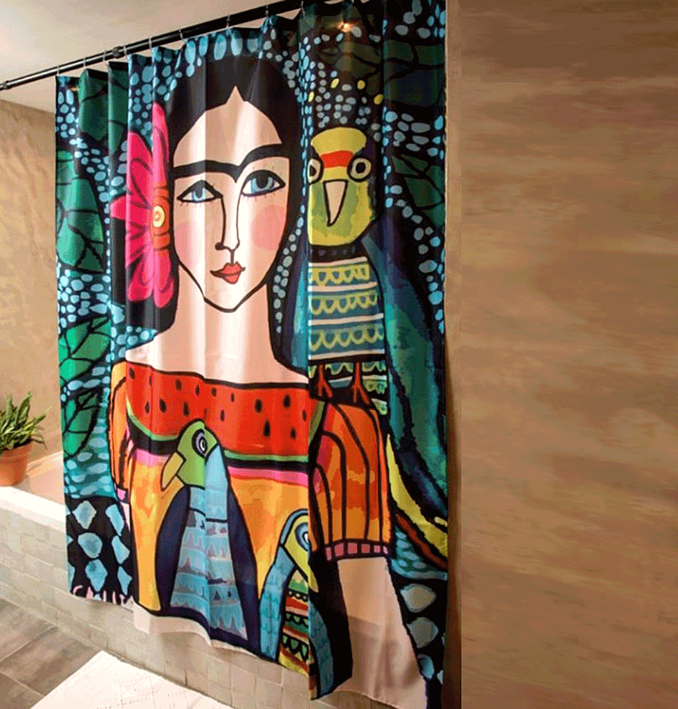 Frida Shower Curtain Curtains Colorful Shower Curtain Frida Kahlo