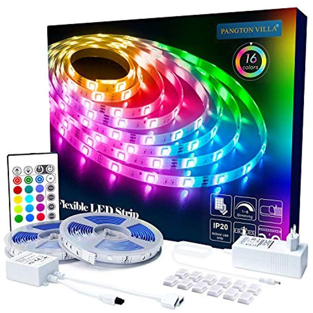 LED Licht Streifen Stripe Band RGB 5m Fernbedienung dimmbar Outdoor auch 12V NEU