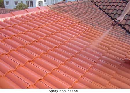 Spray Painting Concrete Roof Tiles Before And After Google Search Painting Concrete Concrete Roof Tiles Concrete Roof