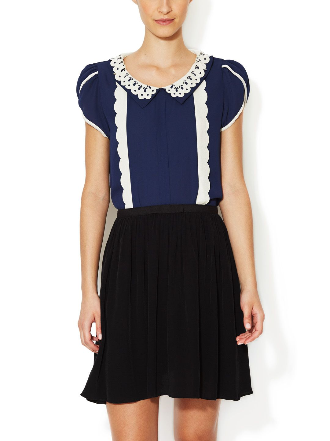 Pan Chiffon Top by The Cue at Gilt