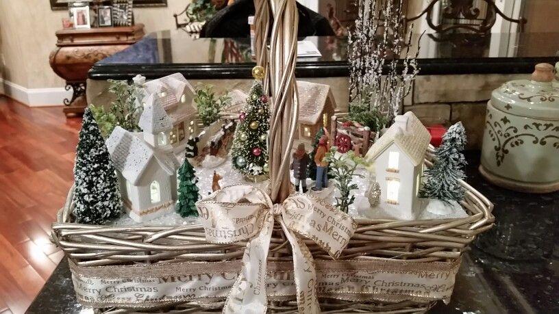Beautiful village basket