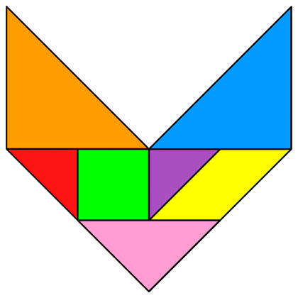 c2d59a9d Tangram Letter V - Tangram solution #129 - Providing teachers and pupils  with tangram puzzle activities