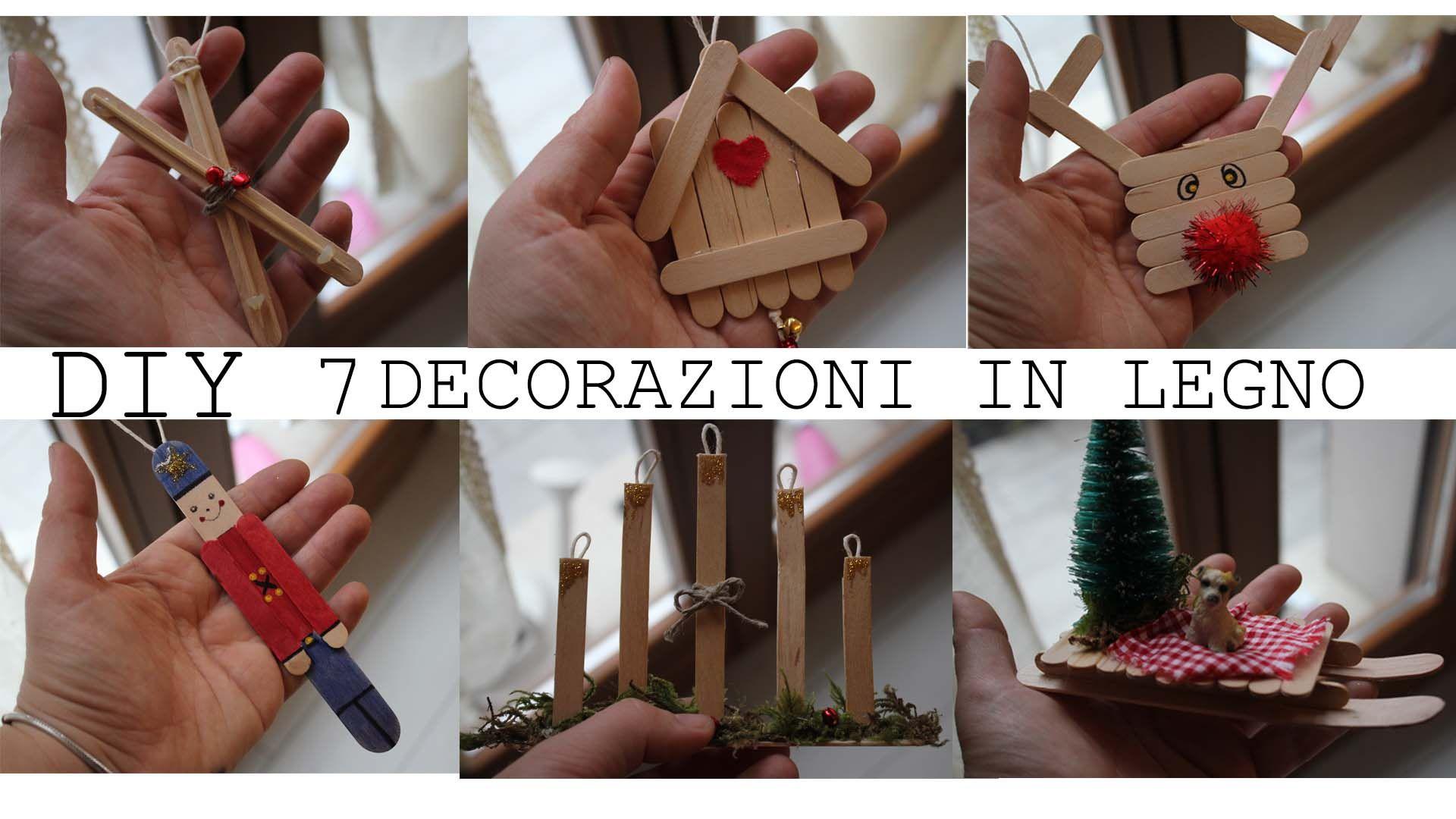 Decorazioni In Legno Per La Casa : Decorazioni per natale fatte in casa in legno con stecchini del
