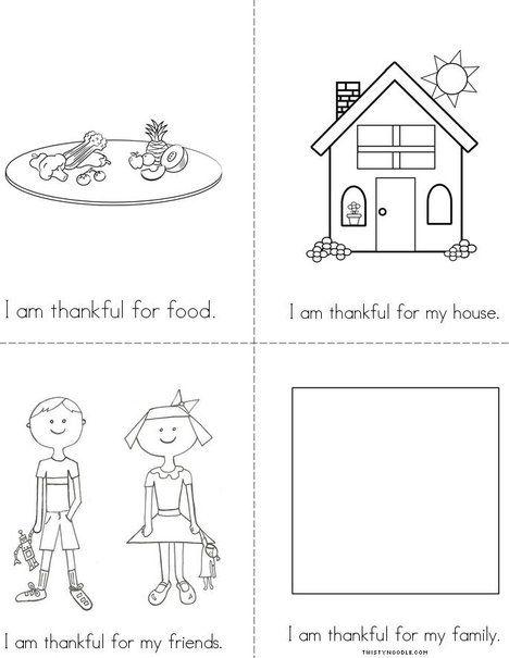 I Am Thankful For Mini Book From Twistynoodle Com Mini Books