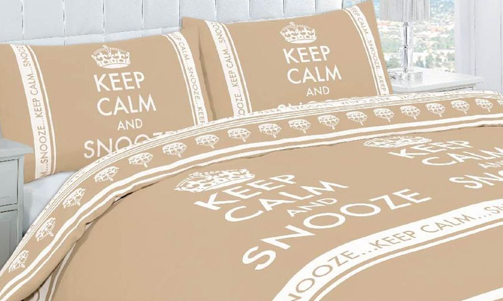Groupon Copripiumino.Keep Calm Duvet Set In Choice Of Colour From 13 98 With Free